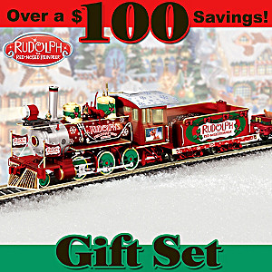 The Illuminated Rudolph The Red-Nosed Reindeer Train Set