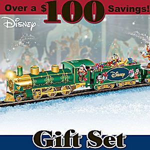 "Disney ""Holiday Celebration Express"" Illuminated Train Set"