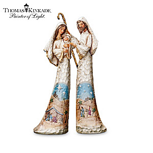 "Thomas Kinkade ""Elegant Blessings"" Nativity Figurine Set"