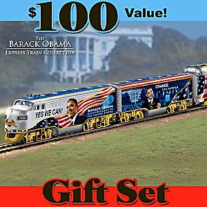 """Barack Obama """"Movement For Change"""" Illuminated Train Set"""