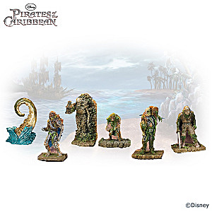 Pirates Of the Caribbean Seventeen-Piece Figurine Set
