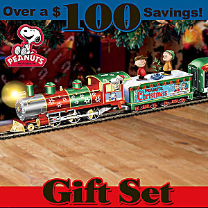 HO-Scale PEANUTS Illuminated Electric Christmas Train Set