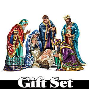 The Jeweled Nativity Figurine Set