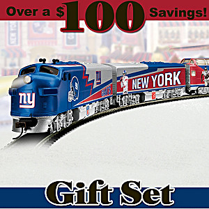 """New York Giants Express"" Illuminated Electric Train Set"