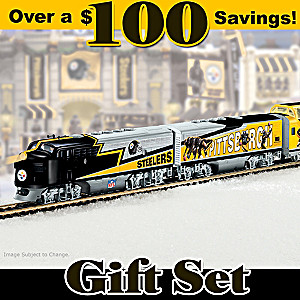 """Pittsburgh Steelers Express"" Illuminated Electric Train Set"