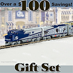 """Dallas Cowboys Express"" Illuminated Electric Train Set"
