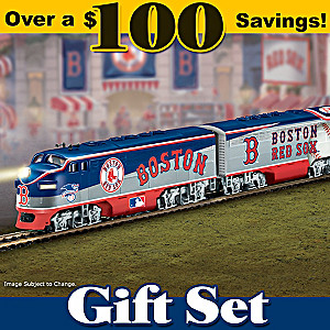 """Boston Red Sox Express"" Electric Train Set"