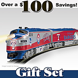 """Texas Rangers Express"" Illuminated Train Set"