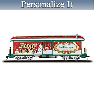 2016 Personalized Illuminated Holiday Train Car