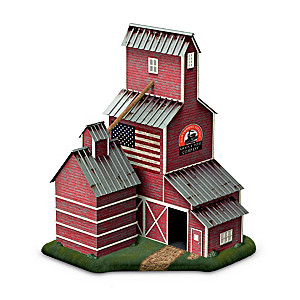 """Grain Elevator"" Lighted Train Accessory With Sliding Doors"