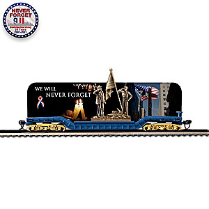 On30-Scale September 11 Train Car With Removable Sculpture