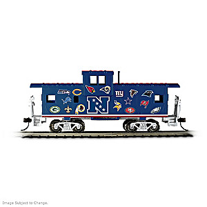 HO-Scale NFL Caboose With AFC And NFC Team Logos