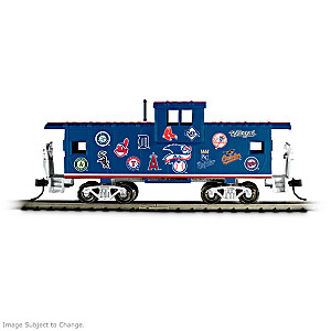 HO-Scale MLB Caboose With All 30 Team Logos