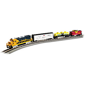 """Thunder Valley"" N-Scale 4-Car Lighted Train Set"