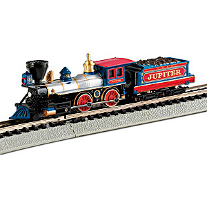 "N-Scale Central Pacific ""Jupiter"" Locomotive And Tender"
