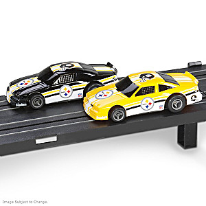 1/87 HO-Scale Pittsburgh Steelers Electric Slot Car Set