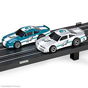 1/87 HO-Scale Philadelphia Eagles Electric Slot Car Set