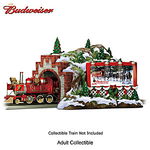 Budweiser Christmas Mountain Train Tunnel