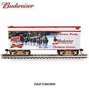 HO-Scale Budweiser Personalized Holiday Train Car