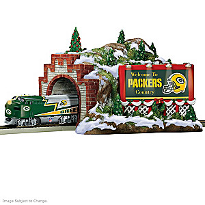 "Packers Illuminated ""Christmas Mountain"" Train Tunnel"