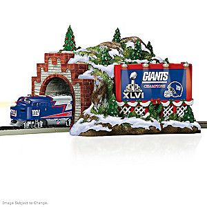 "New York Giants ""Christmas Mountain"" Train Tunnel Accessory"