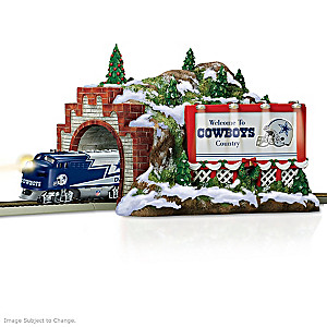 "Dallas Cowboys Illuminated ""Christmas Mountain"" Train Tunnel"