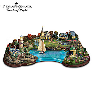 "Thomas Kinkade Illuminated ""Inspiration Cove"" Sculpture"
