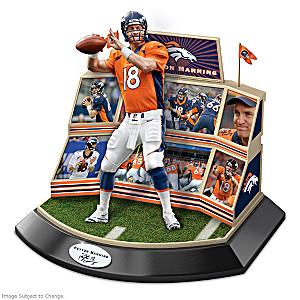 Denver Broncos Peyton Manning Sculpture With Stadium