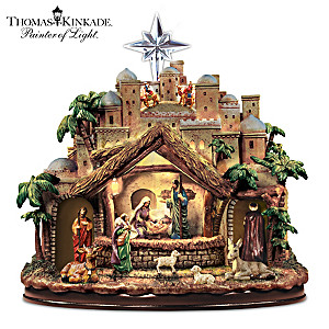 Thomas Kinkade Musical Nativity With Motion And Lights