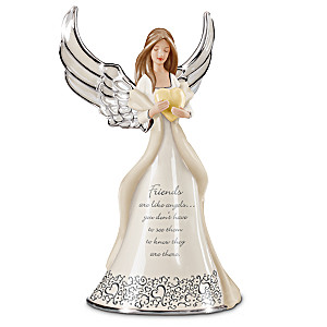 Friends Are Like Angels Porcelain Figurine
