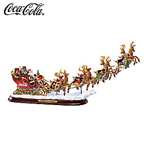 "COCA-COLA ""Night Before Christmas"" Illuminated Sleigh"