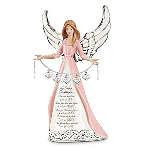 """Darling Granddaughter, I Wish You"" Angel Figurine"