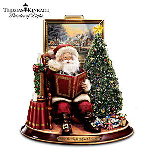 Thomas Kinkade Night Before Christmas Narrating Santa