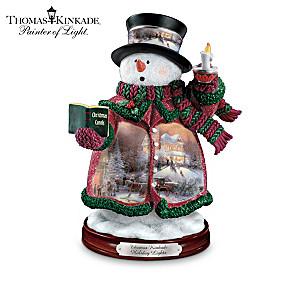 "Thomas Kinkade's ""Holiday Lights"" Snowman Figurine"