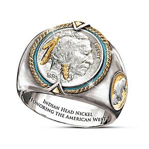 Indian Head Nickel Men's Sterling Silver Ring