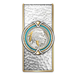 Money Clip With Indian Head Nickel Centerpiece