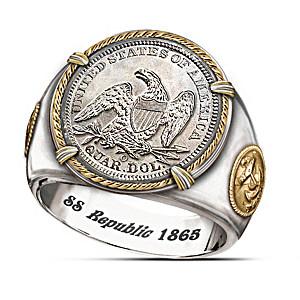 SS Republic Shipwreck Silver Civil War Commemorative Ring