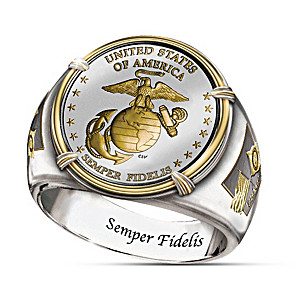 The USMC 230th Anniversary Commemorative Proof Ring