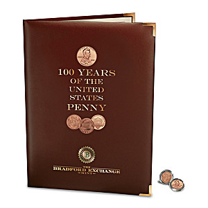 "Complete ""100 Years Of Lincoln Pennies"" Coin Set With Folio"