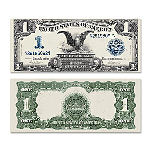 "The Giant ""Horse Blanket"" $1 Black Eagle Silver Certificate"