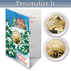 Winter's Wonderland Personalized Keepsake Coin Card Set