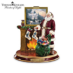 Thomas Kinkade Illuminated Santa Figurine Collection