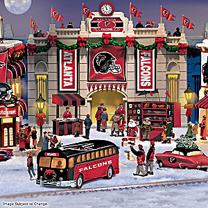 Atlanta Falcons Illuminated Christmas Village