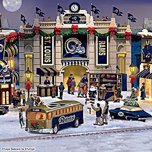 St. Louis Rams Illuminated Christmas Village