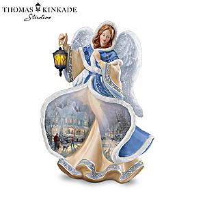 "Thomas Kinkade ""Winter Angels Of Light"" Figurine Collection"