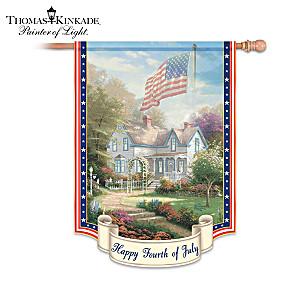 "Thomas Kinkade ""Year Of Glad Tidings"" Flag Collection"