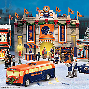 Chicago Bears Illuminated Christmas Village Collection