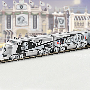 Officially Licensed Oakland Raiders Train Collection