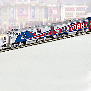 """New York Giants Express"" Illuminated Electric Train"
