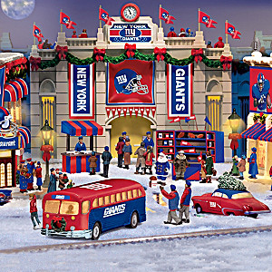 New York Giants Illuminated Christmas Village Collection